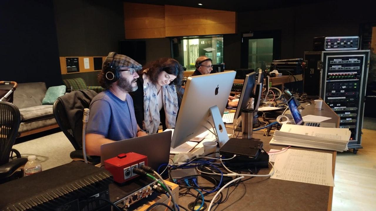 Music Editor Paul Apelgrennami Melumad And Protools Engineer Vinnie Cirilli